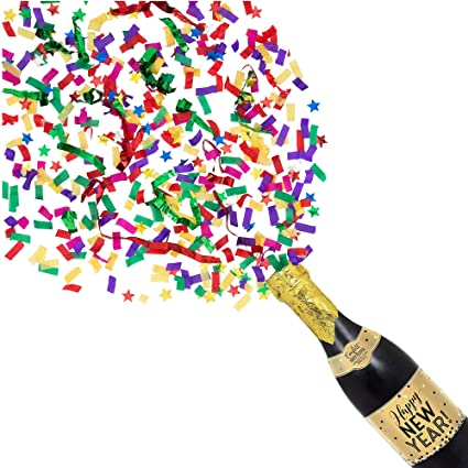 amscan happy new year champagne bottle confetti popper new years eve party supplies 18quot