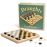 Ackerman Retro Wooden Draughts Set Kids Traditional Classic Travel Board Game