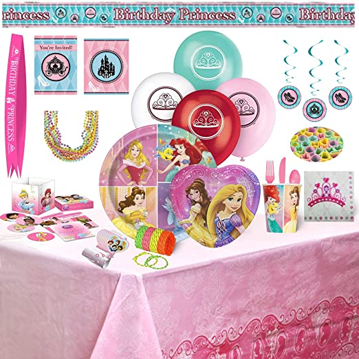 Disney Princess Party Bundles for 8 Guests