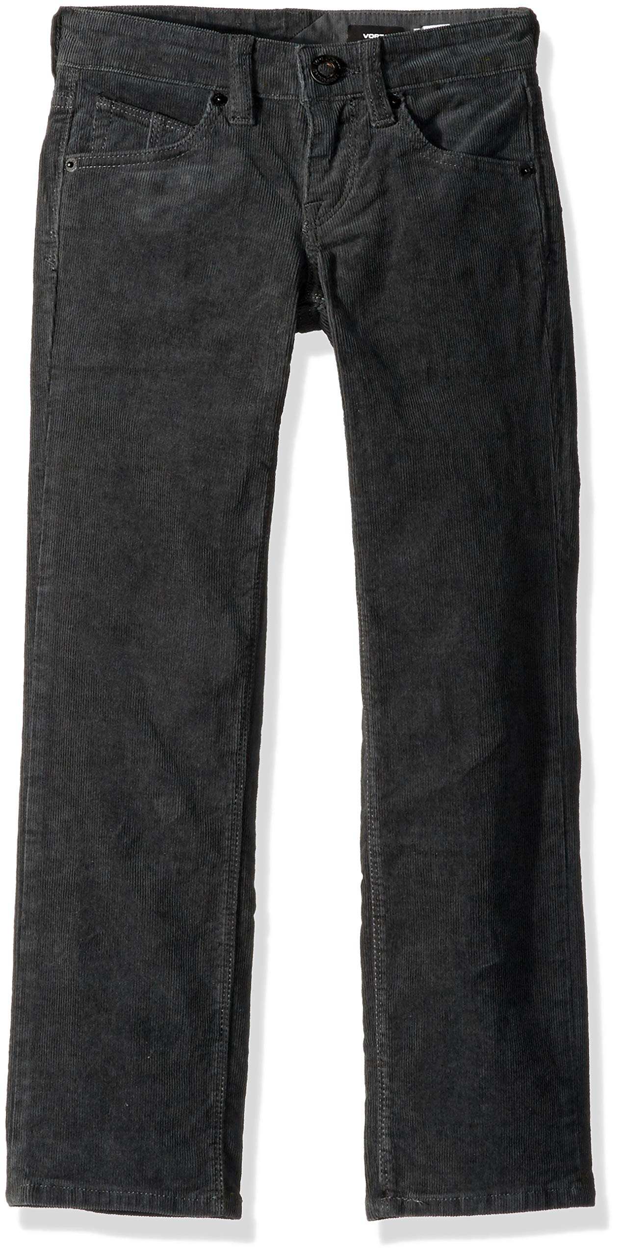 Volcom Boys Vorta 5 Pocket 13'' Leg Opening Corduroy Pant, Stealth 25