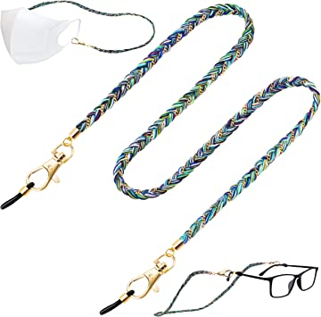 lightweight heavy-duty duty design Dazzling mask necklace lanyard or eyeglasses holder your choice of lengths 18 to 34 and attachment