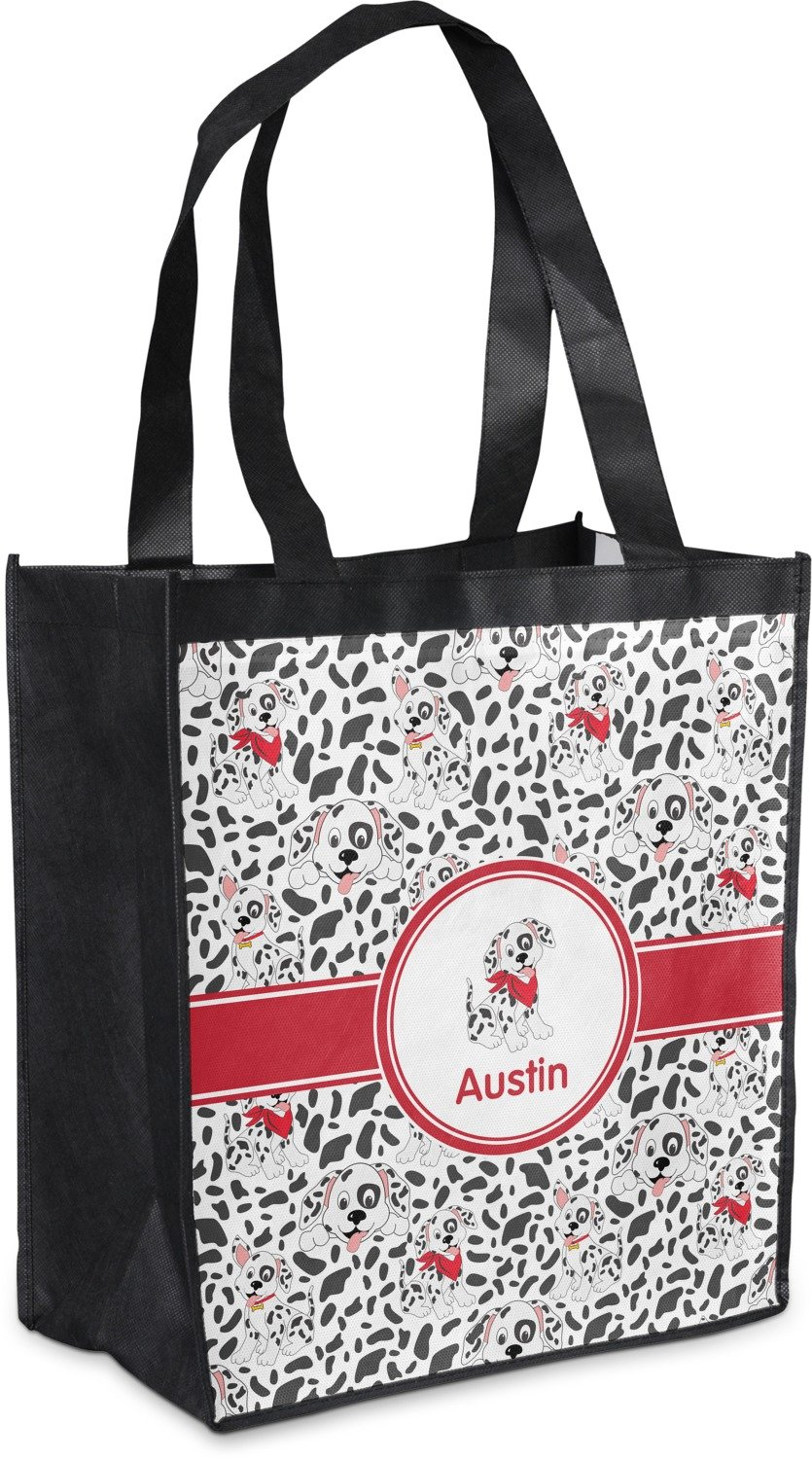 Dalmation Grocery Bag ( Personalized ) B0764ZK4RN