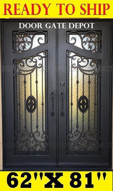Wrought Iron Entry Door TR126A BP 1 (IN STOCK)