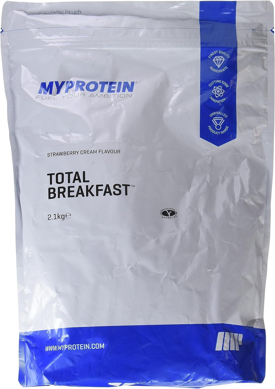 MyProtein Total Breakfast Batido con Mezcla de Carbohidratos y Proteínas, Sabor Fresas con Nata - 2100 gr