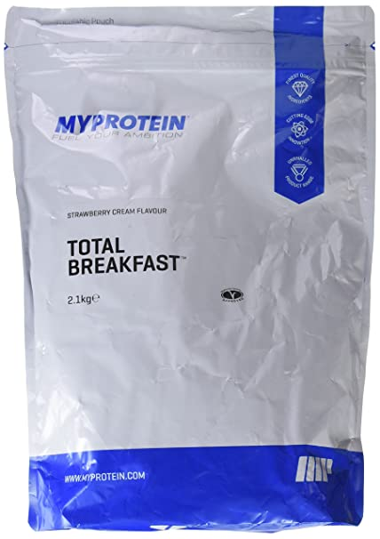 MyProtein Total Breakfast Batido con Mezcla de Carbohidratos y Proteínas, Sabor Fresas con Nata -