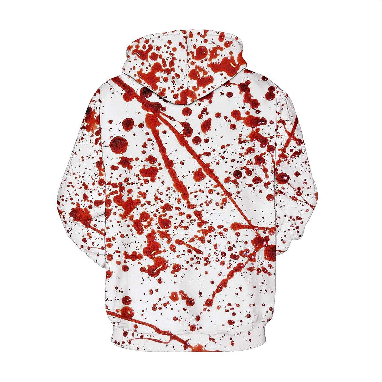 Unisex Fashion Hoodies Realistic 3D Print Pullover Hooded Sweatshirt with Kangaroo Pocket
