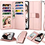 """Njjex Wallet Case For Samsung Galaxy A10E, For 5.8"""" Galaxy A10e Case,[9 Card Slots] PU Leather Credit Holder Folio Flip…"""