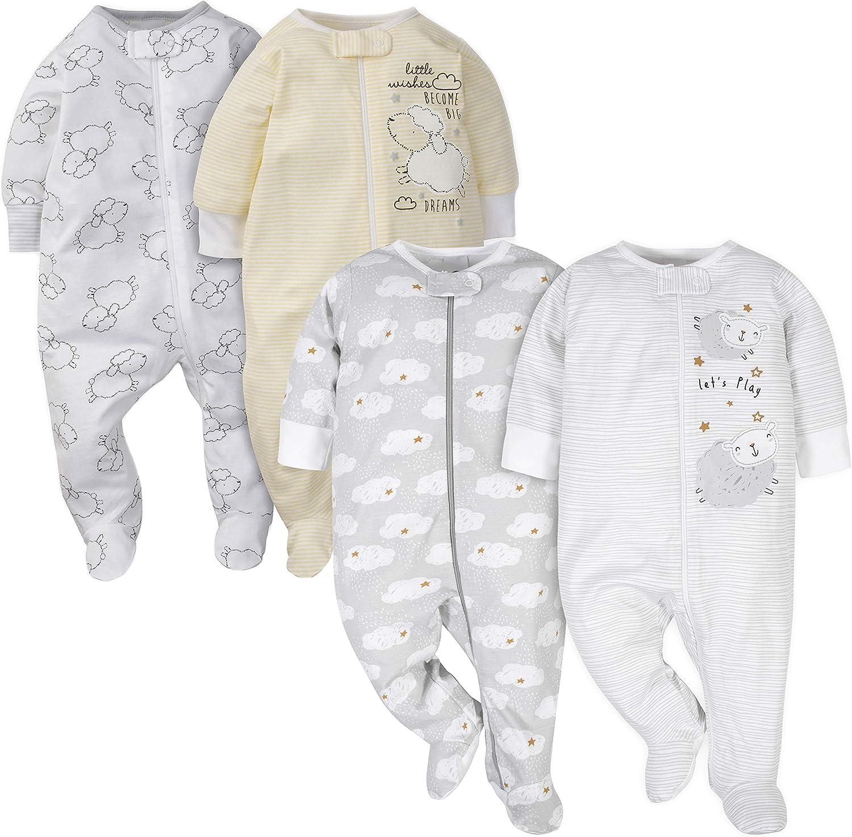Gerber Baby 4-Pack Sleep N Play 3-6 Months Sheep