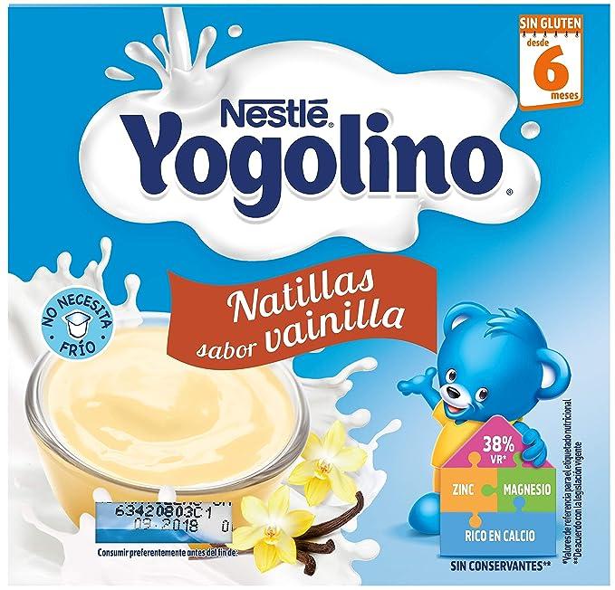 Nestlé Yogolino Natillas de galletas - Paquete de natillas de 6x4 unidades de 100g