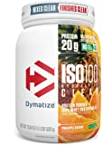 Dymatize ISO100 Hydrolyzed Clear Protein Powder, 100% Whey Protein Isolate Powder, 20g of Protein & 4g BCAAs, Gluten…