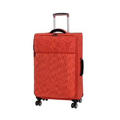 """it luggage 26.8"""" Stitched Squares 8 Wheel Lightweight Expandable Spinner"""