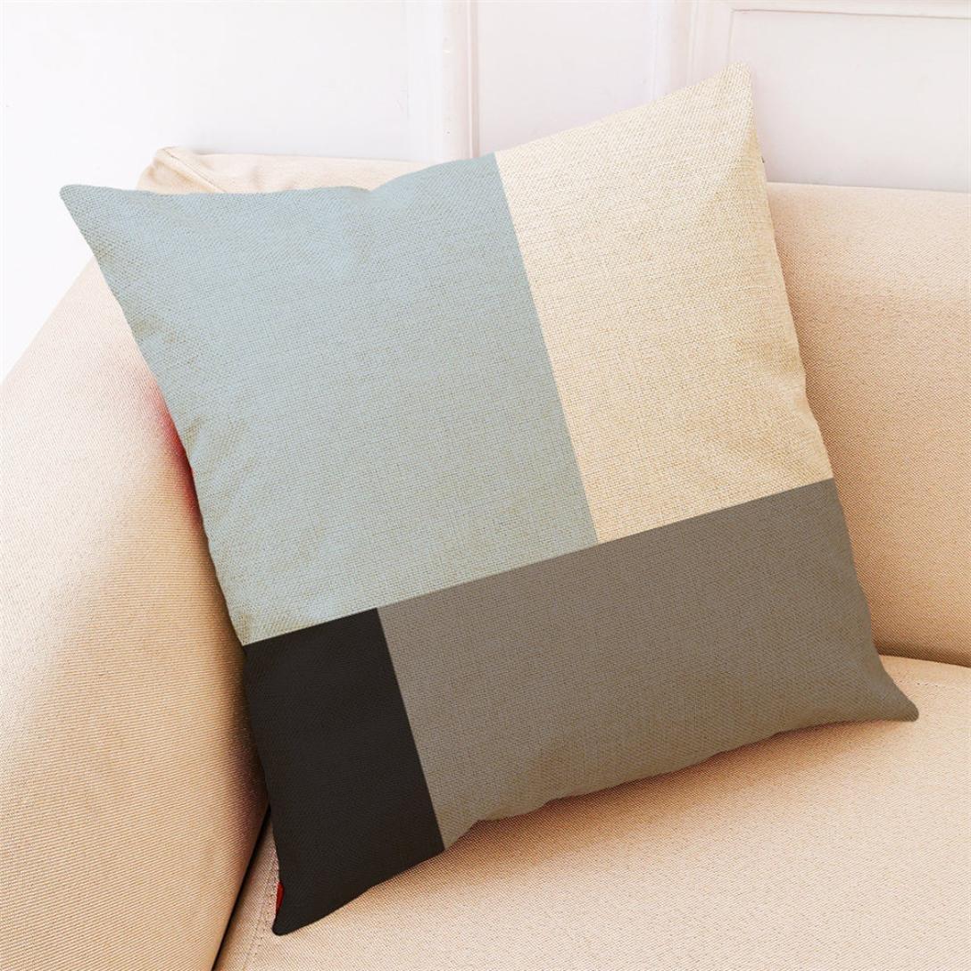 ubabamama Home Dekoration pillowslip einfachen /Überwurf Kissenbez/üge Streifen Kissen Displayschutzfolie Geometrische Kissenbezug