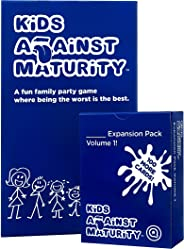 Kids Against Maturity: Card Game for Kids and Humanity, Super Fun Hilarious for Family Party Game Night, Combo Pack with Exp