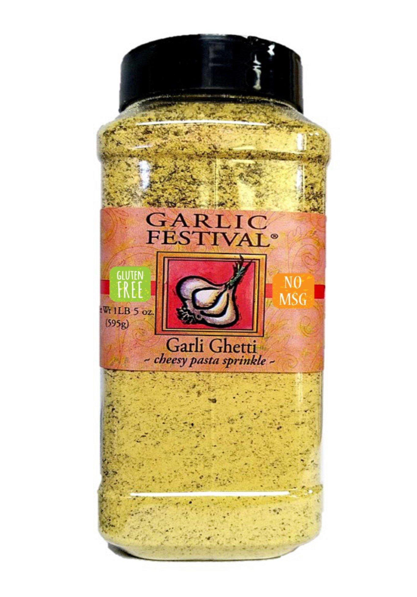 Garlic Festival Foods Garli Ghetti Cheesy Garlic Sprinkle 1lb. 5oz. NO MSG