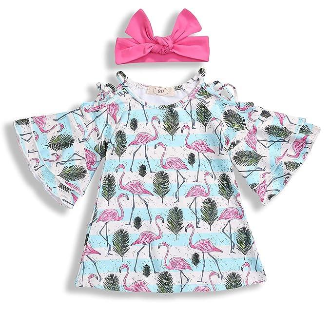 Amazon.com: Vestido de bebé para niñas con estampado ...