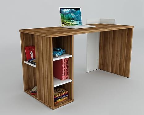 Scrivania Ufficio Porta Pc : Ambiance scrivania noce bianco scrivania per computer