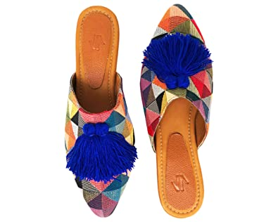Amazon.com | VIDALeather Mule Pointy Toe Flats for Women | Zapatos Bajitos para Mujer | Loafers & Slip-Ons
