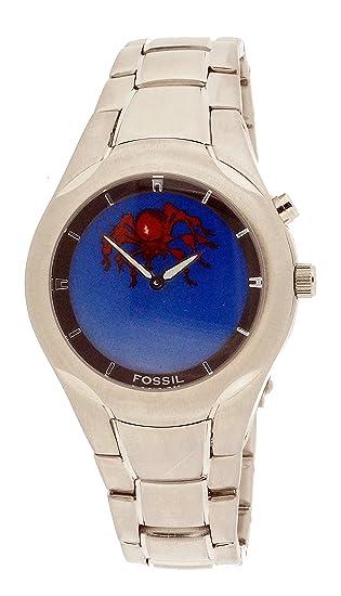 Fossil Reloj Analogico-Digital para Hombre de Cuarzo con Correa en Acero Inoxidable JR8652: Amazon.es: Relojes