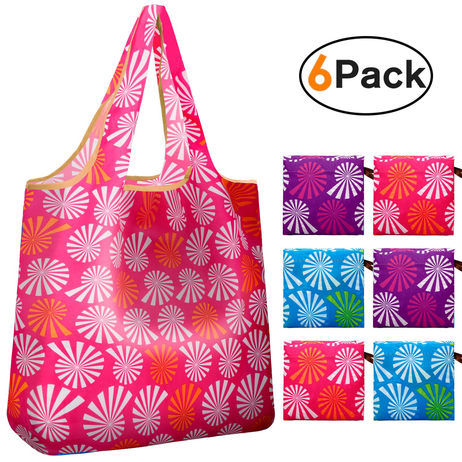 Canvas Bags Reusable Washable Patterns Print Eco-Friendly Recyclable Green Shopping Bags
