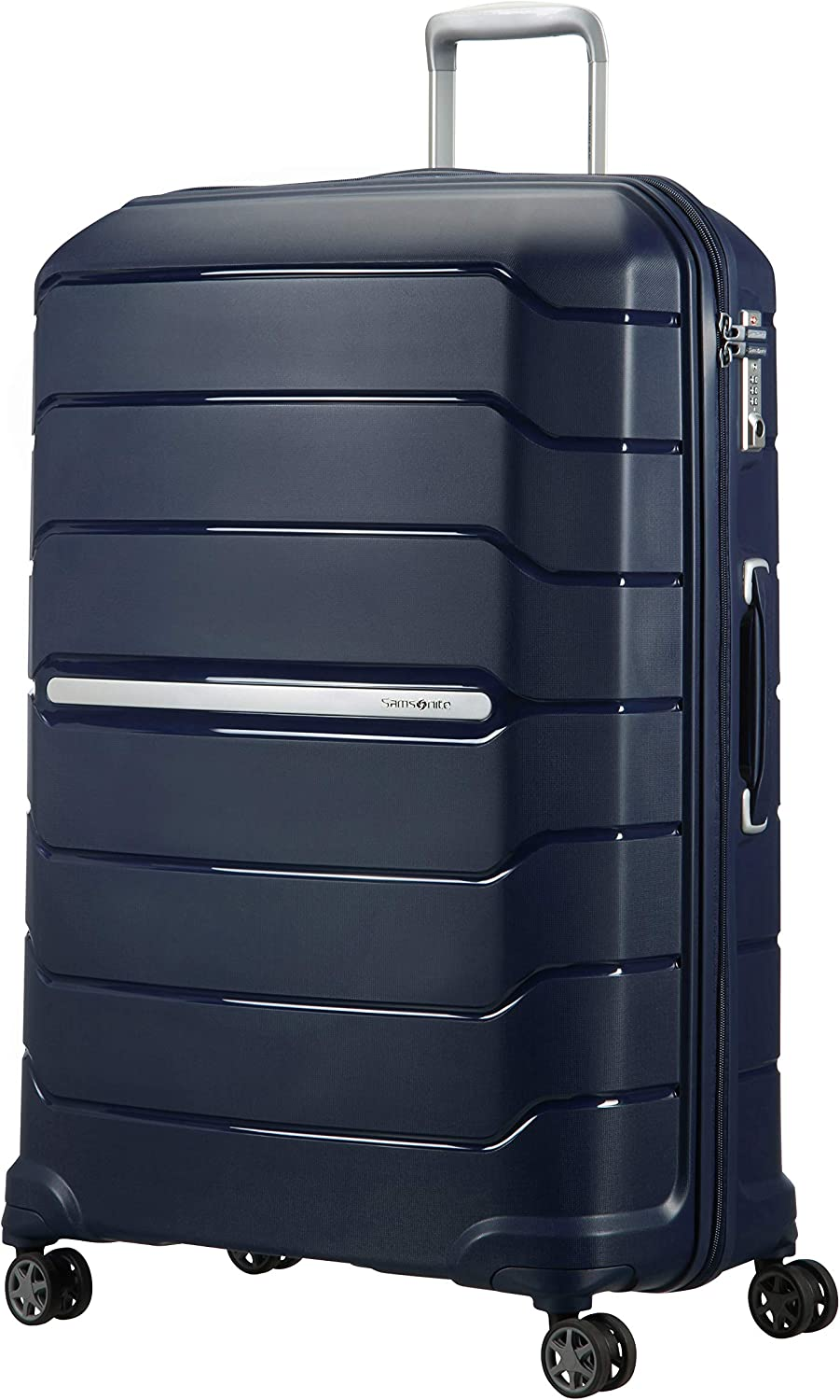 Samsonite Flux Spinner XL Maleta Expansible, 81 cm, 136 L, Azul (Navy Blue)