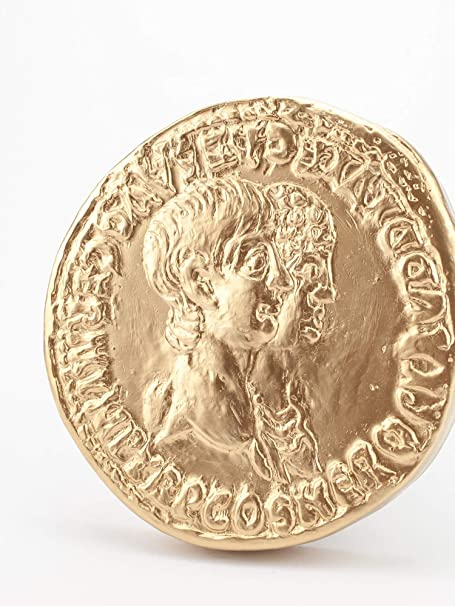 römische Replik Forum Traiani Nero Agrippina altrömische Goldmünze Replikat