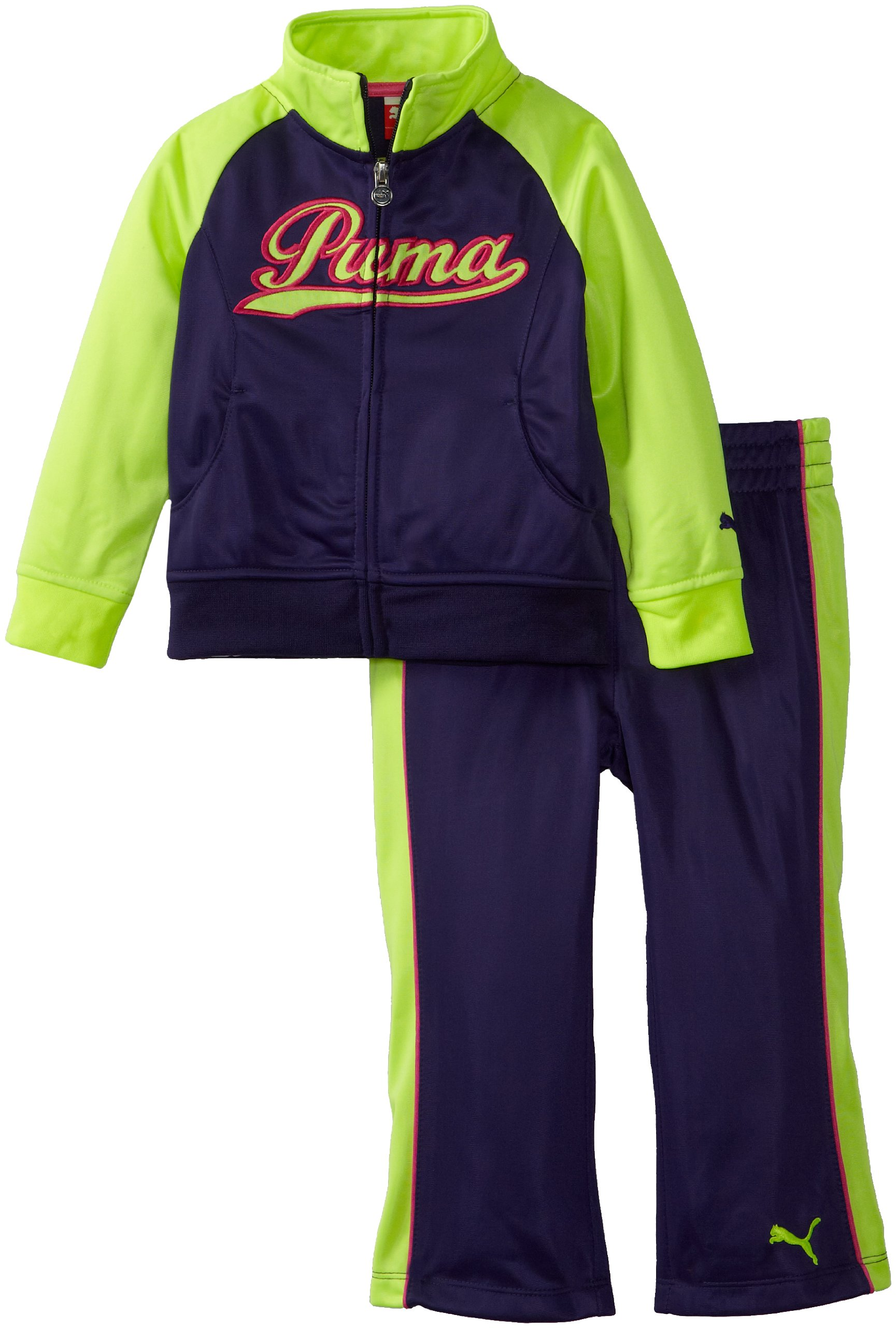 PUMA Little Girls Little Raglan Colorblock Tricot Set product image