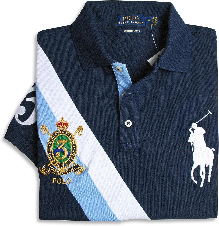 Polo Ralph Lauren 710740710001 Polo Hombre Azul L: Amazon.es: Ropa ...