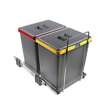ELLETIPI Ecofil PF01 34B2 Mülleimer zur Mülltrennung, Ausziehbar ...