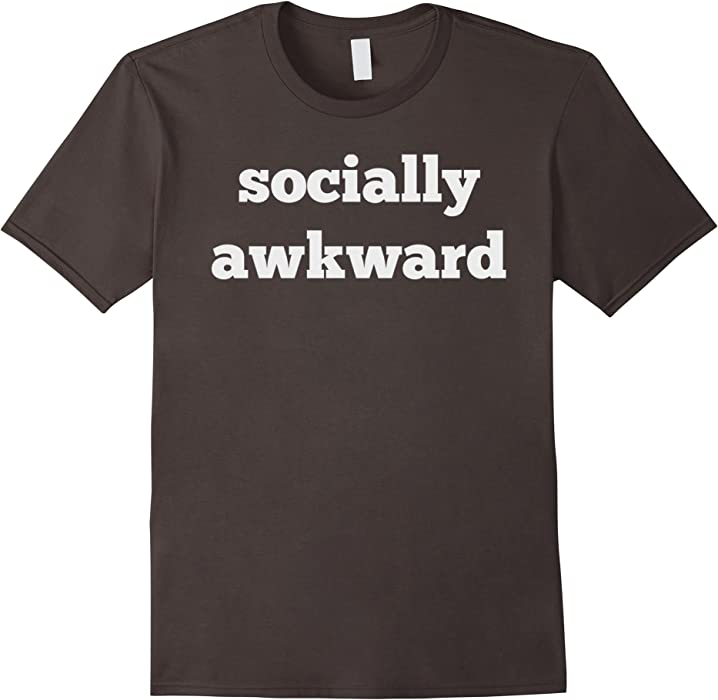 b385c43d44 Amazon.com: Men's Socially Awkward Teenager Funny Geek Nerd Emo Shirt Gift  3XL Asphalt: Clothing