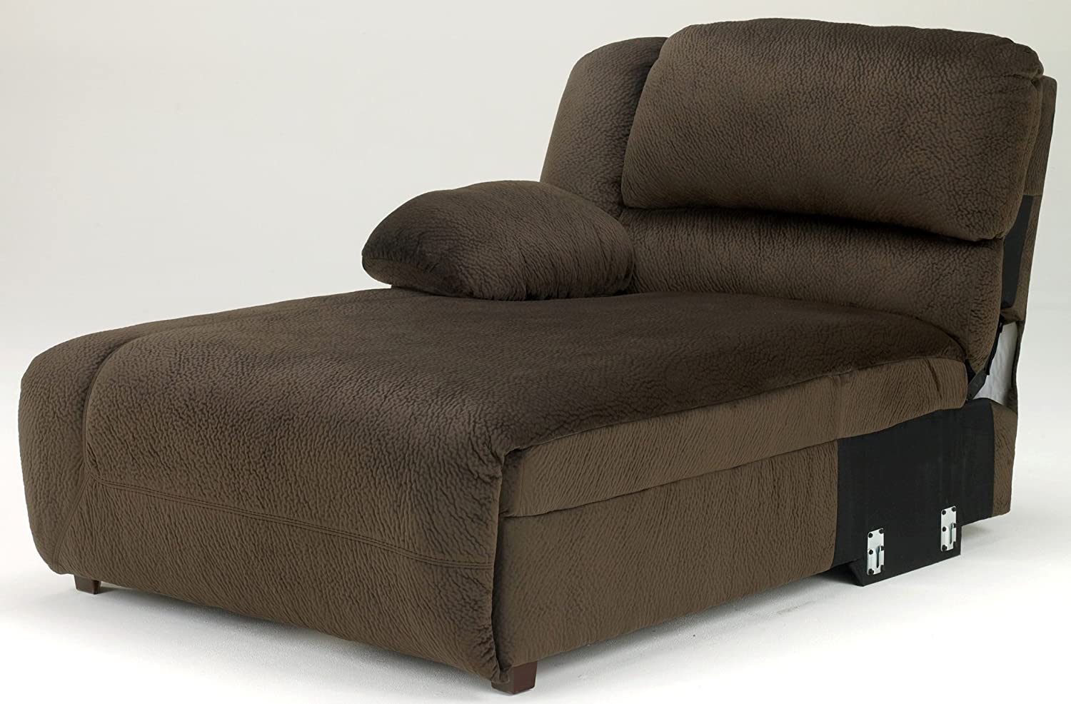 Toletta LAF Press Back Power Chaise in Chocolate by Ashley