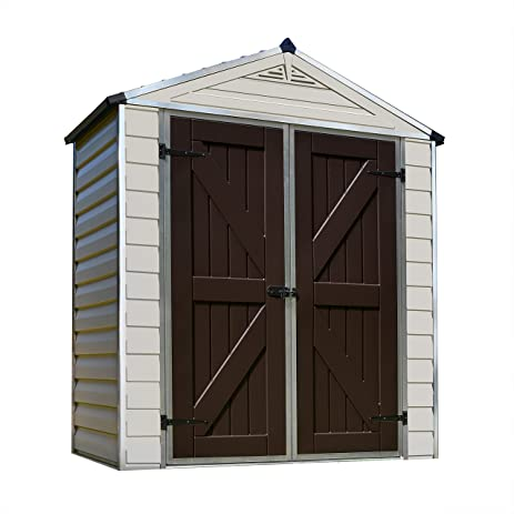 palram skylight storage shed 6 x 3