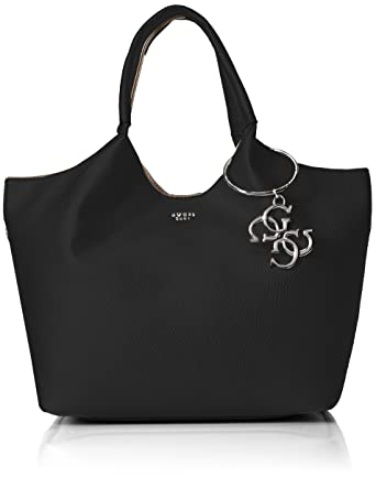 1b1eb3e87f3 GUESS Flora Shopper BLA, black: Handbags: Amazon.com