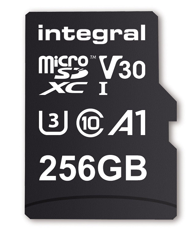microSDXC Integral INMSDX256G-100//90V30 Ultimapro Micro SDXC Class 10 UHS-I U3