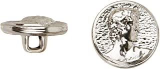 product image for C&C Metal Products 5015 David Metal Button, Size 45 Ligne, Nickel, 36-Pack