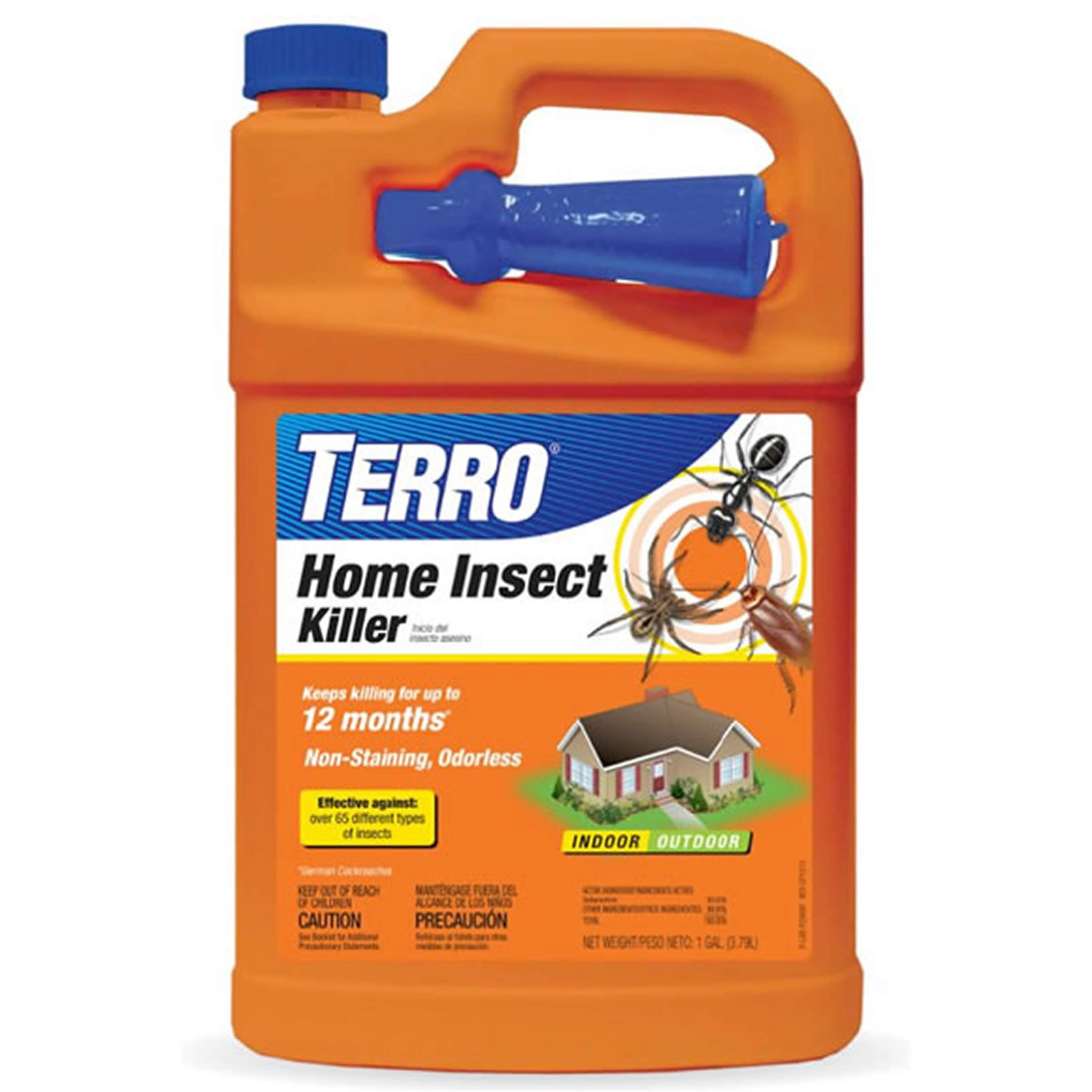 TERRO T3400 Home Insect Killer 12 month Non-Staining, Odorless Indoor/Outdoor 1 GAL.
