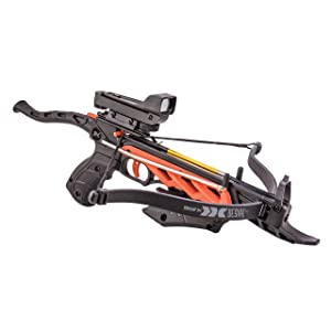 Bear X AC90A0A260 Desire RD Self-Cocking Pistol Crossbow with Red Dot Sight 3 Premium Bolts, Black, One Size