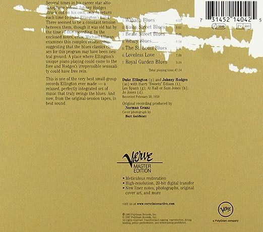 c93ee65ef Duke Ellington   Johnny Hodges - Play...The Blues Back To Back (VME -  Remastered) - Amazon.com Music