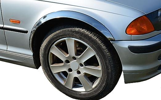 Set Radlaufverbreiterung Kotflügel Spritzlappen Radlaufleisten Serie 3 E46 1999 2004 Coupe Cabrio 2 Türen X4 Stück Chrom Auto