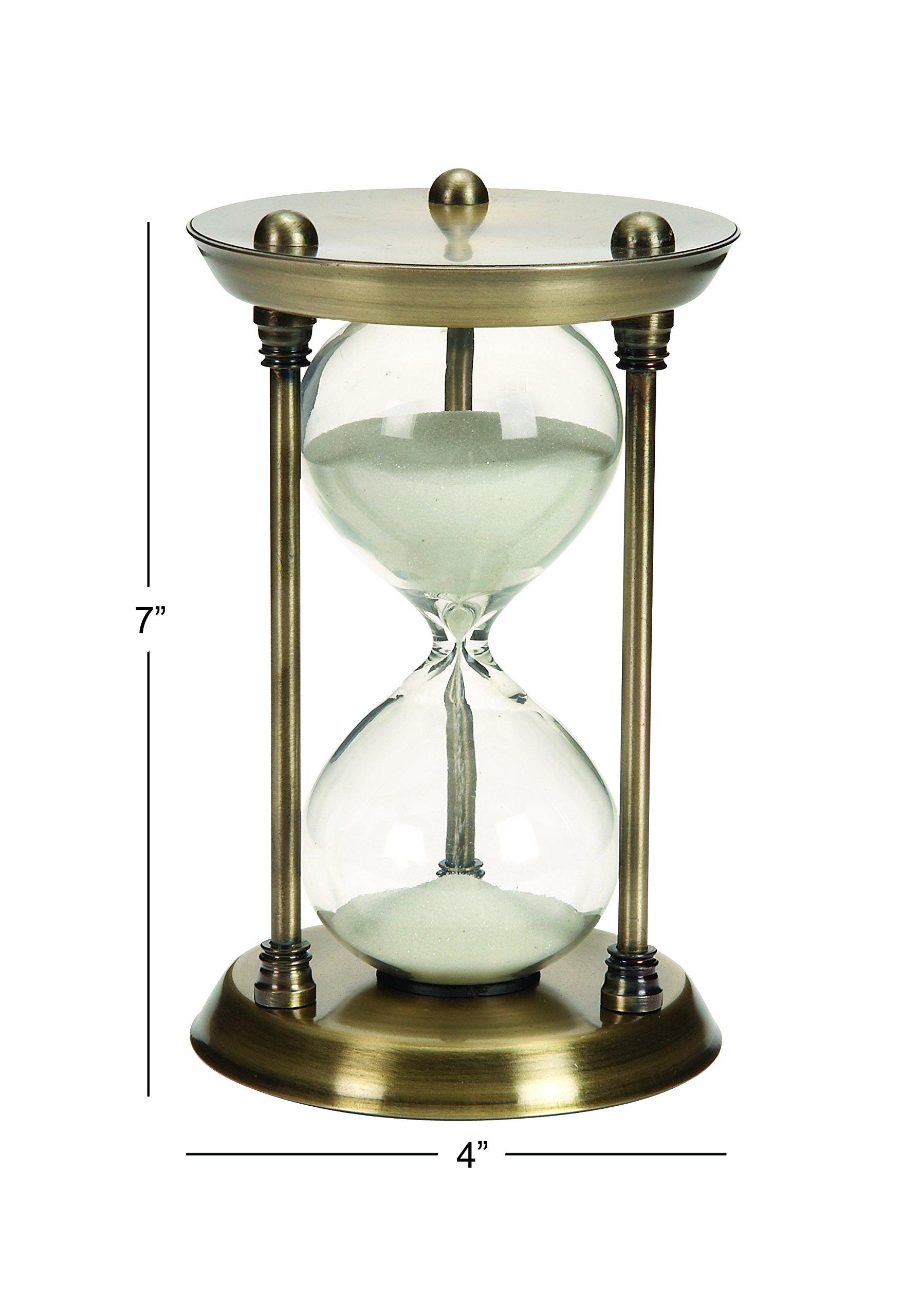 Nautical sand timer brass quarter hourglass antique