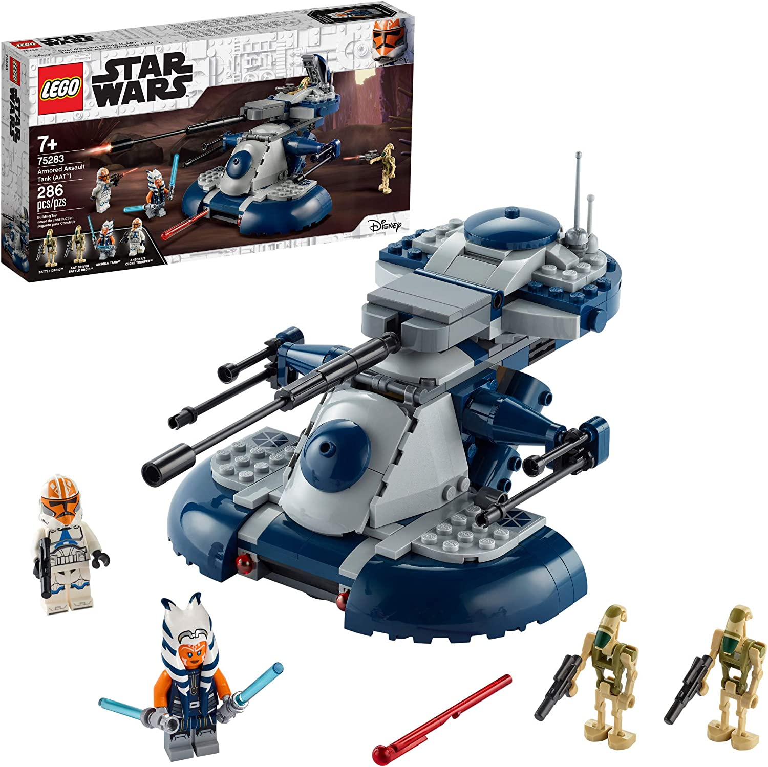 Amazon Com Lego Star Wars The Clone Wars Armored Assault Tank Aat 75283 Building Kit Awesome Construction Toy For Kids With Ahsoka Tano Plus Battle Droid Action Figures New 2020 286 Pieces Toys