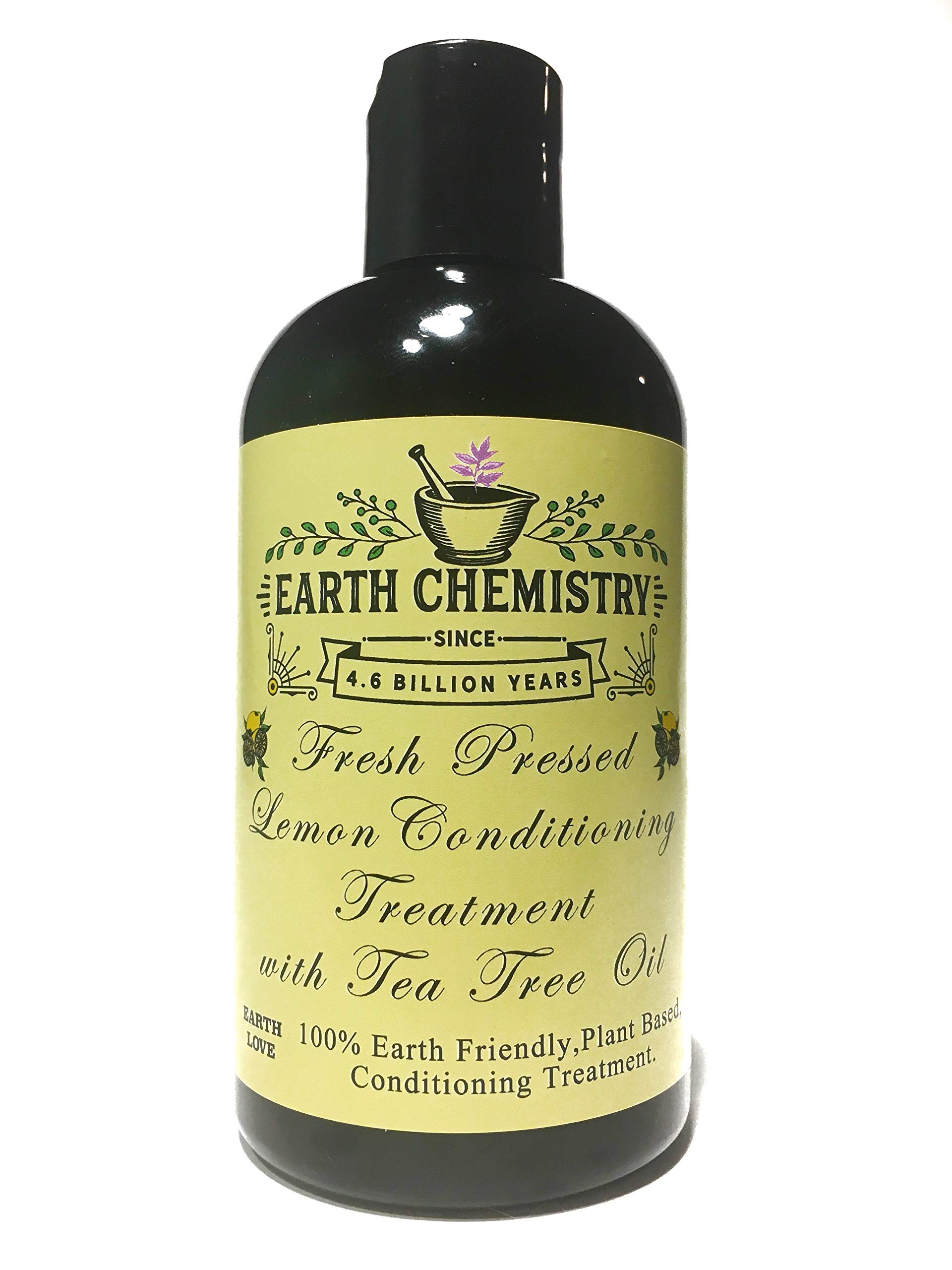 Fresh Pressed Lemon Cream Conditioning Treatment with Tea Tree Oil, Vitamin B5 and Plant Protein for Damaged Hair Repair
