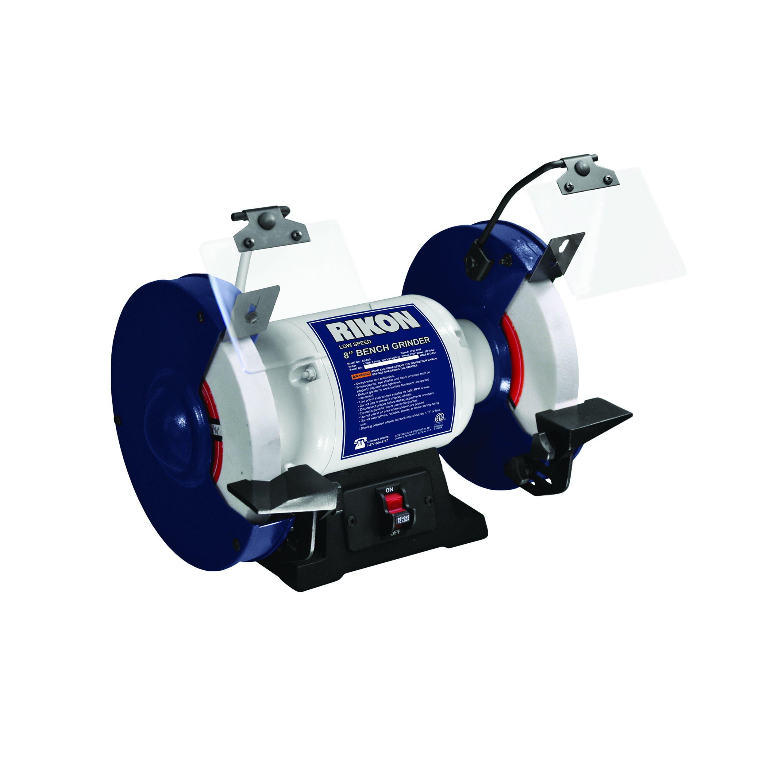 RIKON Power Tools 80-805 8'' Slow Speed Bench Grinder,