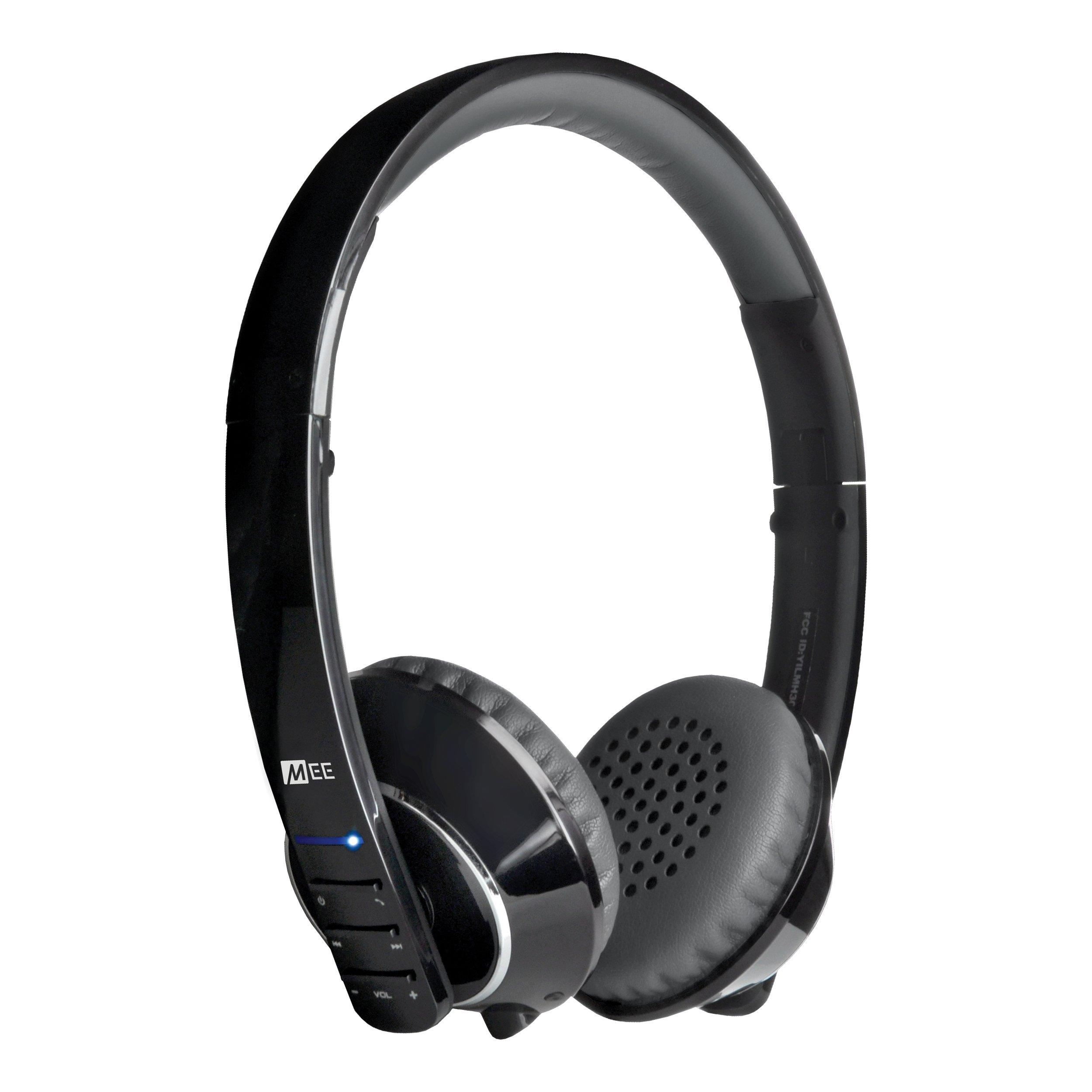 MEE audio Runaway 4.0 Bluetooth Stereo Wireless + Wired Headphones with Microphone (Black)
