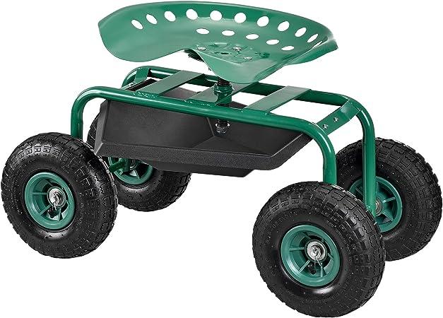 pro.tec] Asiento móvil para trabajar en jardín scooter [verde ...