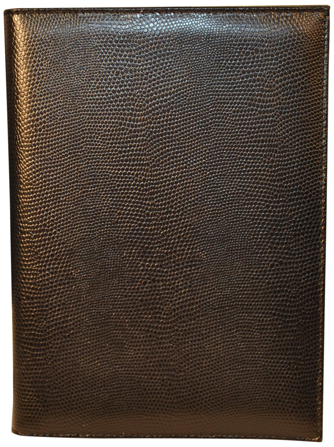 Budd Leather Lizard Calf Pad Cover, Black