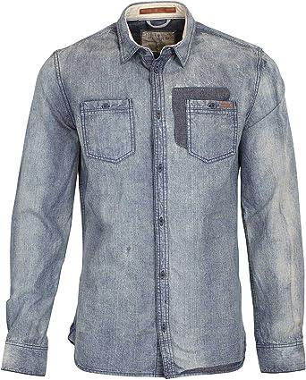 Blend - Camisa casual - Chambray - Manga larga - para hombre: Amazon.es: Ropa y accesorios