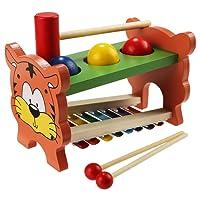 Arshiner 8-Note Strumento Xilofono Giocattoli Musicali Saggezza Sviluppo di Legno