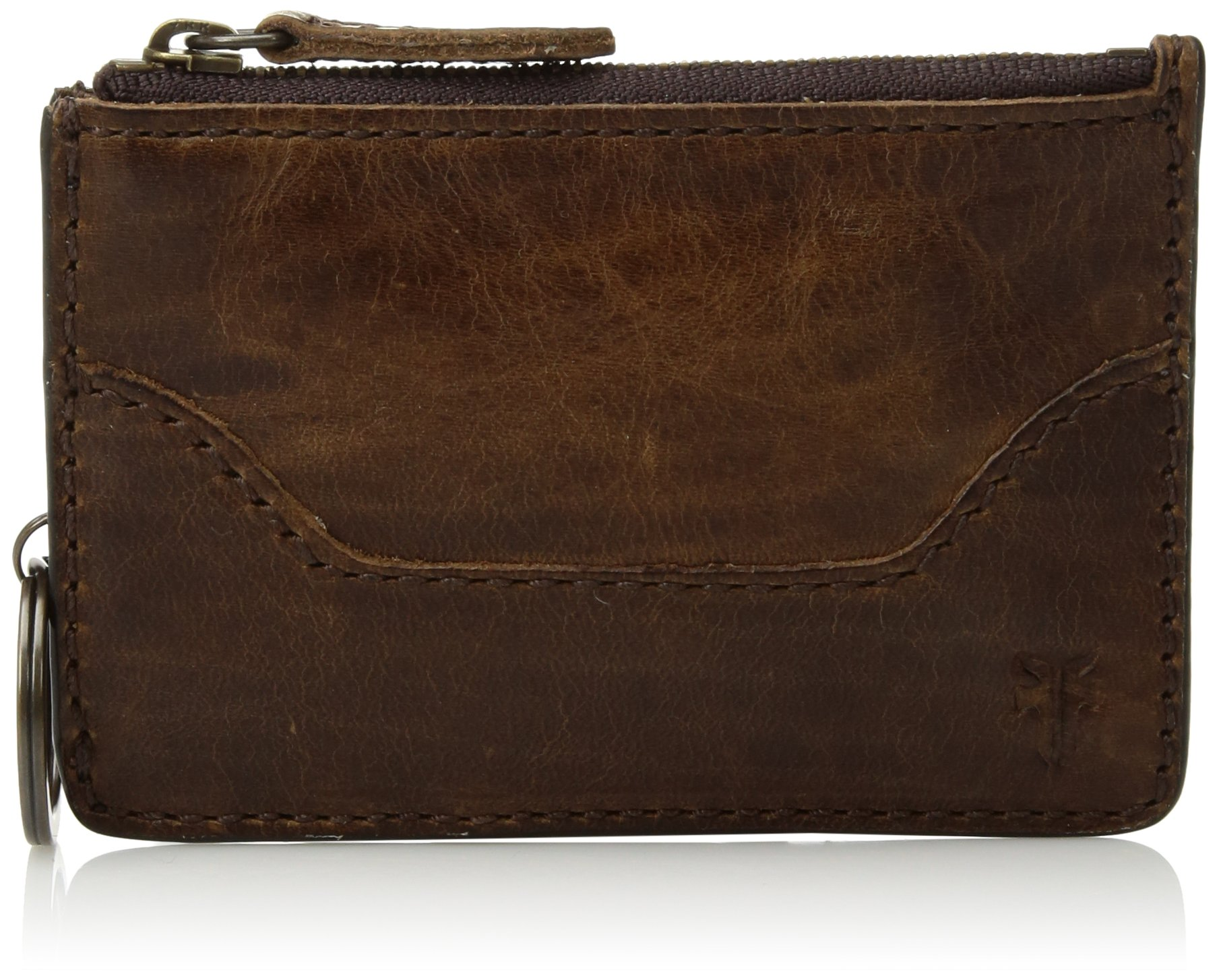 FRYE Women's Melissa Key Card, Dark Brown One size