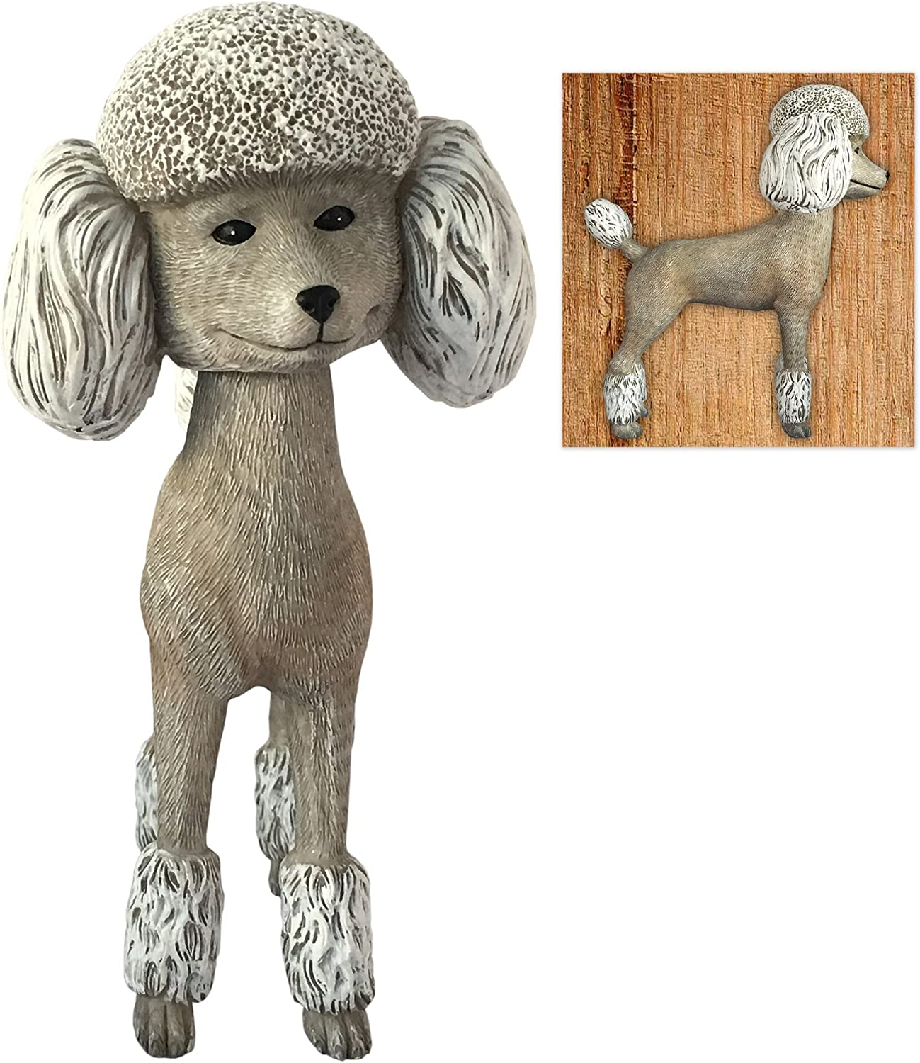 Off the Wall Toys Action Figures Bobble Head Adorable White Poodle Collectible Bobblehead Figure Home Decor Statue Figurine