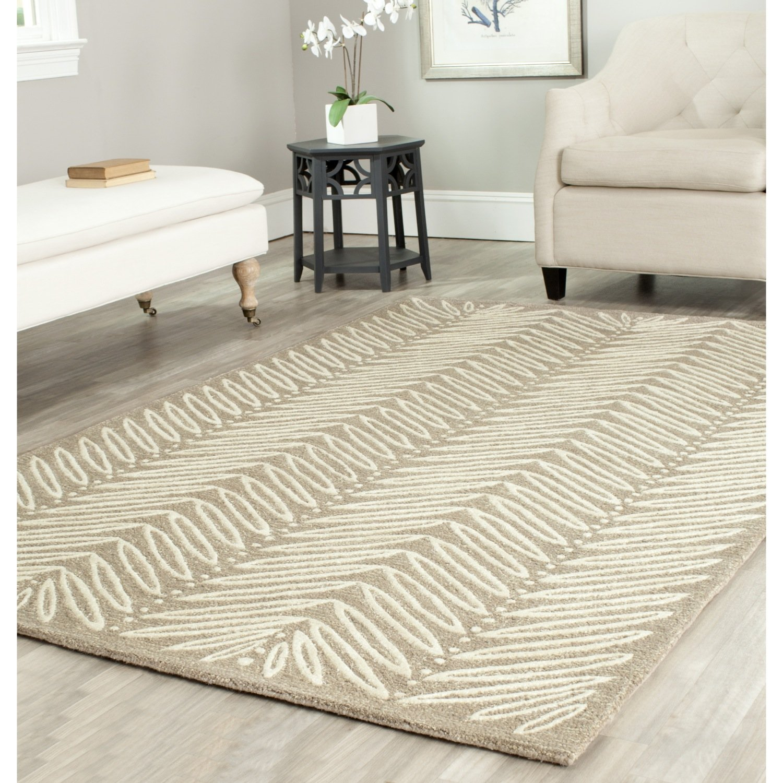 Safavieh Martha Stewart Collection MSR3612A Premium Wool and Viscose Chamois Beige Area Rug (5' x 8')
